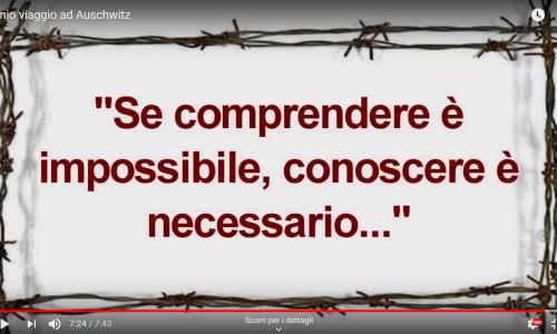 Il mio viaggio ad Auschwitz. Video