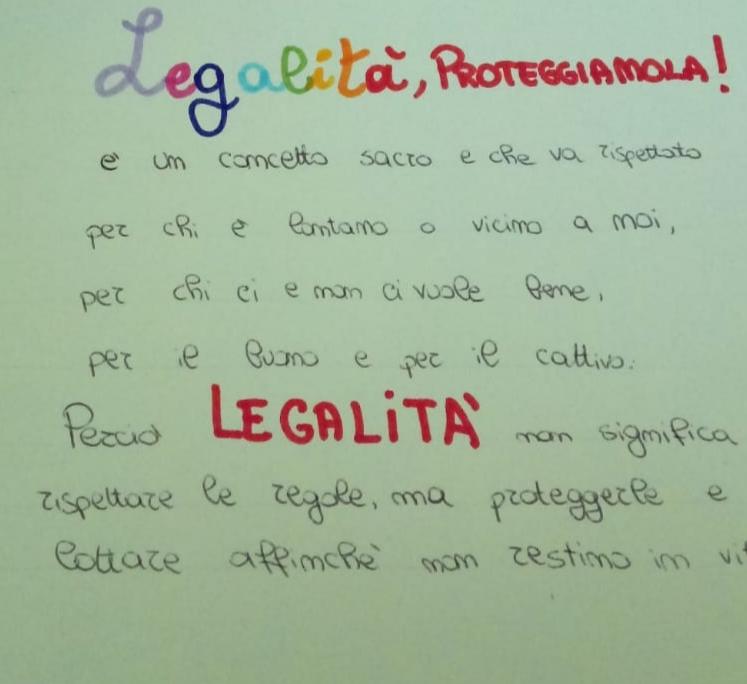 La Legalita E Necessaria L Eco Della Scuola On Line
