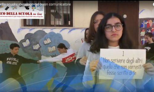 Decalogo del buon comunicatore. La redazione L'Eco della scuola al Forum Bambini e mass media