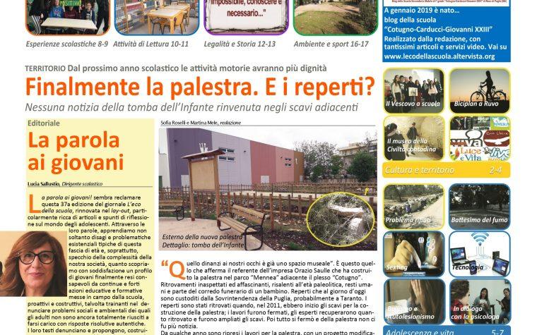 Disponibile on line il giornale scolastico L'Eco della scuola n.37