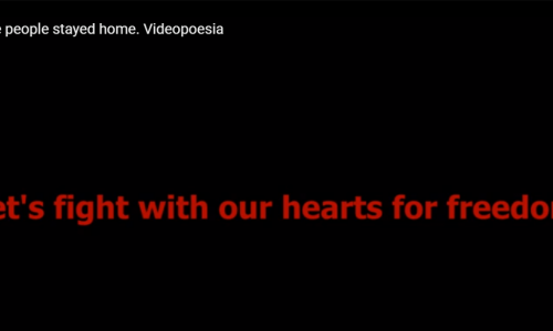 And the people stayed home. Videopoesia