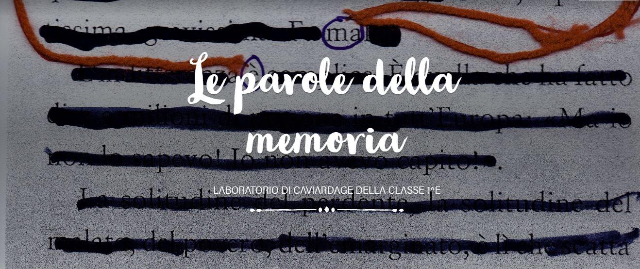 Le parole della memoria