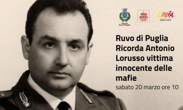 Ruvo: Antonio Lorusso ricordato nella Giornata delle vittime innocenti